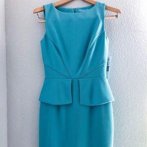 Sky blue shift dress